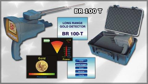 افضل واسهل الاجهزة الاستشعارية للكشف عن الذهب BR 100-T